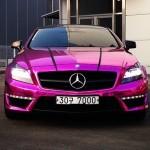 car pink mercedes